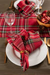 Holiday Metallic Plaid Napkin (Set of 6)