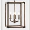 Magnolia Light Adjustable Iron Rustic Farmhouse LED Pendant, Brown