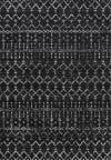 Moroccan HYPE Boho Vintage Diamond Black/Ivory Area Rug