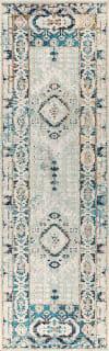 Diamond Vintage Medallion Indigo Blue/Ivory Runner Rug