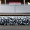 Mercer Shag Plush Tassel Moroccan Geometric Trellis Denim Blue/Cream 2 ft. x 8 ft. Runner Rug