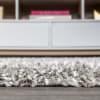 Mercer Shag Plush Tassel Moroccan Geometric Trellis Grey/Cream 2 ft. x 8 ft. Runner Rug