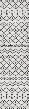 Moroccan Beni Souk Cream/Black Runner Rug