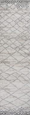 Moroccan Modern Diamond Light Gray Runner Rug