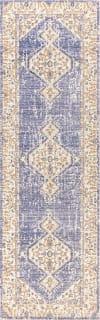 Modern Tribal Medallion Lavender/Gray Runner Rug