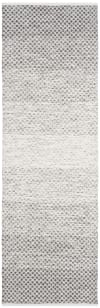 Gray Cotton 2.5' x 9' Rug