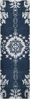 Navy Wool Rug 2.5' x 9'