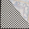 Grid Pad 6' X 6' Round White Polyester Rug