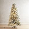 7.5' Fully Flocked Pre-Lit Artificial Christmas Tree
