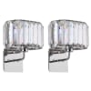 Acrylic Crystal Chrome Wall Sconce Set of 2