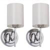 Ventura Chrome Wall Sconces Set of 2