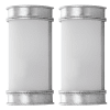 Industrial Silver  Flush Wall Sconces Set of 2