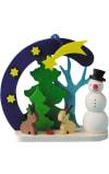 Graupner Ornament - Snowman with Bunnies