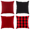 Assorted Red/Black Pillow Cover Set of 4