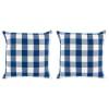 Navy/Off White Buffalo Check Pillow 20x20 Set/2