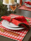 Joyful Snowflakes Jacquard Kitchen Collection, Napkin Set, 6 Piece