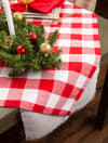 Red and White Buffalo Check Tablecloth 60x104