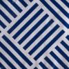 J&M Navy Grid Vinyl Tablecloth 70 Round