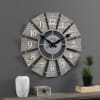 Gray Numeral Farmhouse Windmill Clock