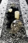 Black Woven Paper Table Runner 14x72
