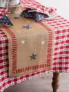 Star Check Tablecloth 60x84