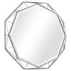 Geometric Iron Frame Wall Mirror
