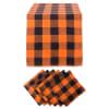 Orange Buffalo Check Table Set