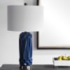 Geometric Blue Table Lamp