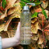 Gold & Silver Dots - Hand Decorated Glass Water Bottle