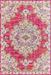 Bohemian FLAIR Boho Vintage Medallion Pink/Cream 5' x 8' Area Rug