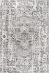 Denia Ornate Geometric Medallion Dark Gray  5' x 8' Area Rug