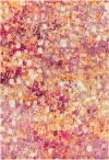 Contemporary Modern Abstract Pink/Orange  4' x 6' Area Rug