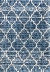 Ogee Moroccan Trellis Shag Indigo Blue/Ivory  5' x 8' Area Rug