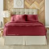 Burgundy Full 4Pc. Sheet Set