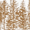 Trees In A Line Brown/White Poly Filled Pillow