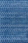 Moroccan HYPE Boho Vintage Diamond Blue/White 5' x 8' Area Rug