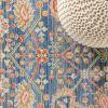 Modern Faded Peshawar Plum/Terracotta Area Rug