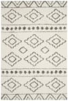 Ivory Polyester Rug 5' x 8'