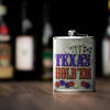 Texasw Hold'em Stainless Steel Liquor Flask