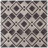 Essence Black Wool Rug 5' x 5'