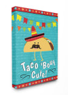 Taco Bout Cute with Mustache Wall Art