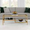Lovett Brass Finish Coffee Table