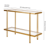 Inez Brass Finish Console Table