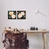 Soft Pink Rose Garden Abstract Flower Bush 2pc Black Framed Giclee Texturized Art Set by Emma Caroline 12 x 12