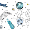 Galaxy Out Of This World Self-Adhesive Borders Removable Wallpaper
