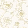 Peonies Gold Leaf Self-Adhesive Removable Wallpaper Double Roll