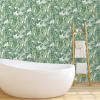 Tropical Jungle Green Self-Adhesive Removable Wallpaper Double Roll