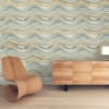 Aquamarine & Gold Self-Adhesive Removable Wallpaper Double Roll