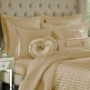 Gold Tufted Round Pillow
