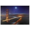 LED Light-Up Famous Foggy Golden Gate Bridge Canvas Wall Art